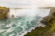 Canada, Ontario, Niagara Falls dramatic long exposure view - WPEF00697
