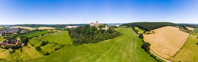 Germany, Hesse, Wetterau, Aerial of Ronneburg Castle - AMF05821