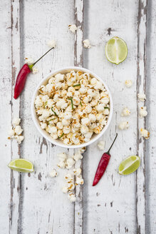 Bowl of popcorn flavoured with chili and lime - LVF07311
