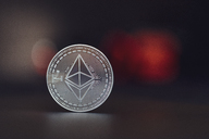 Ethereum, black underground, red bokeh - MMA00416