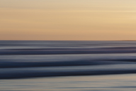 View from the beach over the ocean at sunset, long exposure - MINF01448