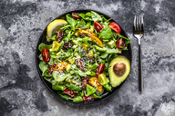 Salad with lamb's lettuce, tomatoes, avocado, parmesan and curcuma lemon dressing - SARF03861