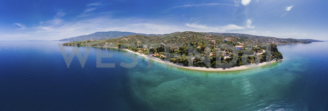 Greece, Aegean Sea, Pagasetic Gulf, Aerial view of Afissos - AMF05836