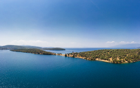 Greece, Aegean Sea, Pagasetic Gulf, View from Bay of Milina to Alatas Island - AMF05855