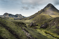 Iceland, South West, Laugavegur trail from Landmannalaugar to Porsmoerk - DMOF00062