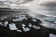 Iceland, South of Iceland, Joekulsarlon glacier lake, icebergs - DMOF00071