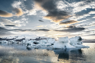 Iceland, South of Iceland, Joekulsarlon glacier lake, icebergs - DMOF00077