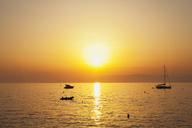 Italy, Liguria, Riviera di Levante, Golfo del Tigullio, boats at sunset - GWF05587