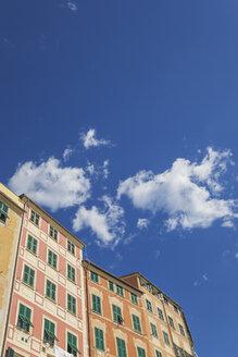 Italy, Liguria, Camogli, typical colourful Ligurian houses - GWF05605