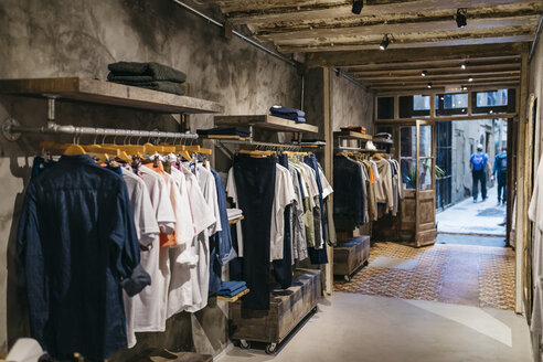 Interior of a modern menswear shop - JRFF01712