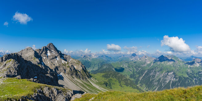 Germany, Bavaria, Allgaeu, Allgaeu Alps, View from Hochrappenkopf to Biberkopf - WGF01205
