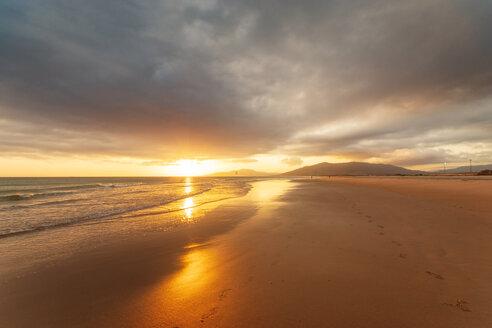 Spain, Andalucia, Tarifa, beach at sunset - SMAF01072