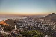 South Africa, Cape Town, sunset above the sea - DAWF00680