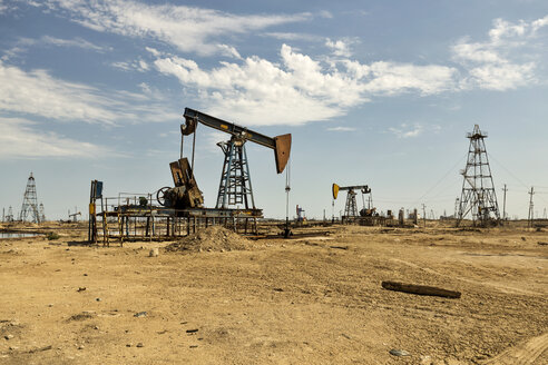 Azerbaijan, Baku, oil fields - FPF00183