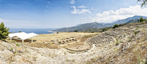 Greece, Peloponnese, Egira, Amphitheatre of Aigeira - MAMF00161