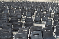 Vatican City, Row of chairs, Preparation for an audience of the Pope - BZF00432