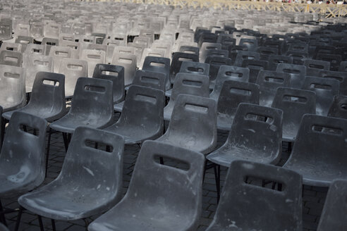Vatican City, Row of chairs, Preparation for an audience of the Pope - BZF00435