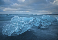 Close up of iceberg on beach, Jokulsarlon, Iceland - ISF19016