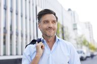 Portrait of relaxed businessman with stubble - PNEF00808