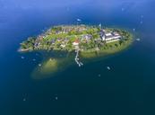 Germany, Bavaria, Chiemsee, Aerial view of Fraueninsel - MMAF00449