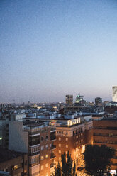 Spain, Madrid, cityview at blue hour - KKAF01344