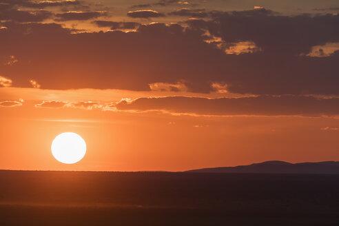 Africa, Namibia, Etosha National Park, Landscape at sunset - FOF09983