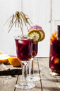 Decorated glasses of Sangria with fresh fruits - SBDF03731