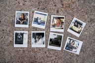 Instant photos of young women with car - KKAF01398