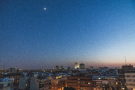 Spain, Madrid, cityscape at blue hour - KKAF01459