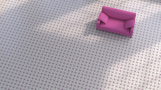 3D rendering, Couch on patterned floor - UWF01414
