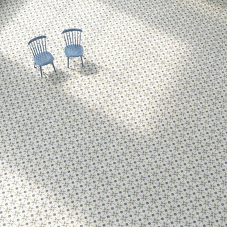 3D rendering, Two chairs on patterned floor - UWF01426