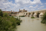 Spain, Andalusia, Cordoba, Old town, Mosque–Cathedral of Cordoba, Puente Romano, Roman bridge - WIF03548