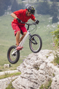 Acrobatic biker on trial bike - GIOF04095