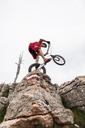 Acrobatic biker on trial bike - GIOF04098
