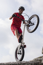 Acrobatic biker on trial bike - GIOF04110