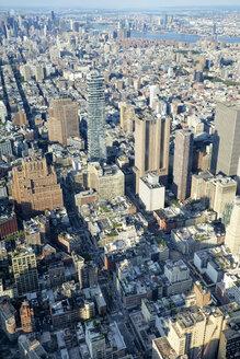 USA, New York, Manhattan, One World Trade Center and high-rising buildings - HLF01107