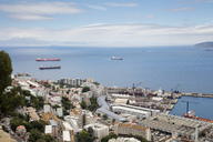 Gibraltar, view to city, harbour and  Mediterranean Sea from above - WIF03556