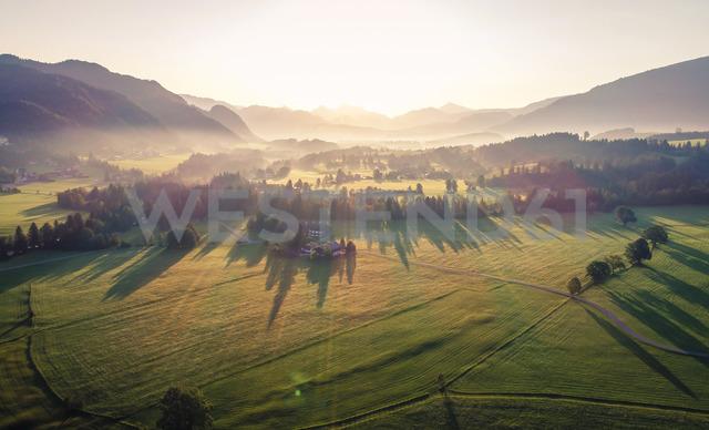 Austria, Tyrol, Kaiserwinkl, Aerial view at sunrise - AIF00539