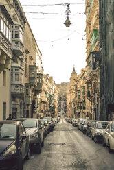 Malta, Valletta, Street with parking cars - ACPF00190