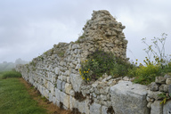 Albania, Fier County, ancient city Byllis, city wall - SIEF07857