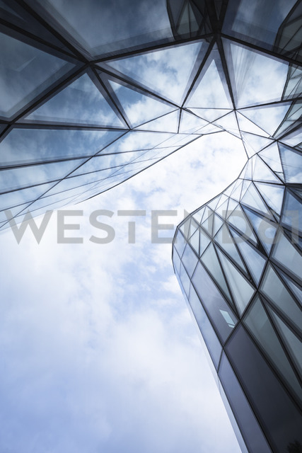 Poland, Krakow, part of glass facade of Congress Center - FCF01455