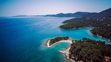 Croatia, Cres, Adriatic Sea, Aerial view - DAWF00709