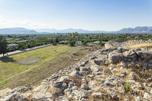 Greece, Peloponnese, Argolis, Tiryns, View from archaeological site - MAMF00192