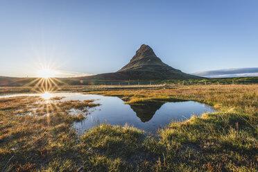 Iceland, Snaefellsnes, Kirkjufell at sunset - KEBF00887