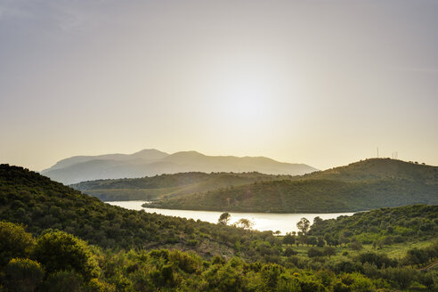 Albania, Vlore County, Butrint, bay, Corfu in the background - SIEF07881