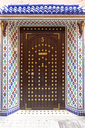 Morocco, Marrakesh, ornated entrance door of a Moroccan Riad - MMAF00491