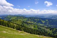 Germany, Bavaria, Allgaeu, Oberallgaeu, Oberstaufen, Allgaeu Alps, View from Hochgrat, Siplingerkopf and Riedbergerhorn, Nagelfluhkette - SIEF07901