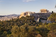 Greece, Athens, View of the Acropolis from Pnyx - MAMF00209