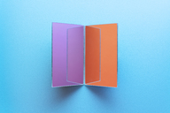 Rectangle shaped mirrors on blue background - DRBF00078