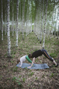 Exercise with child in forest - PSIF00002